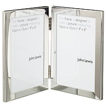 Buy John Lewis Shiny Silver Vertical Double Frame Online at johnlewis.com