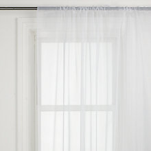 Buy John Lewis The Basics Sheer Slot Top Voile Panel, White Online at johnlewis.com