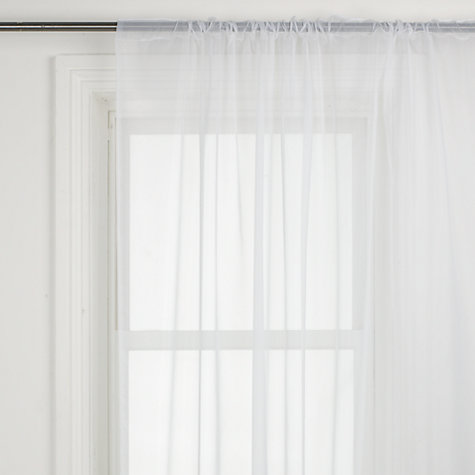Buy John Lewis Value Plain Slot Top Voile Panel, White Online at johnlewis.com