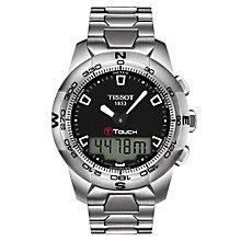 Buy Tissot T0474201105100 T-Touch Men's Touch Screen Bracelet Watch, Silver Online at johnlewis.com