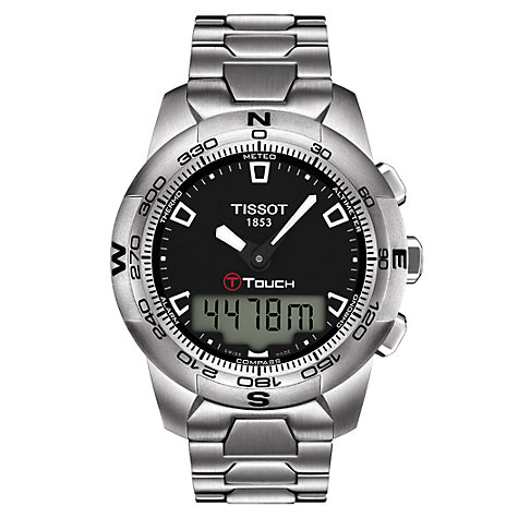 Buy Tissot T0474201105100 T-Touch Men's Touch Screen Bracelet Watch Online at johnlewis.com