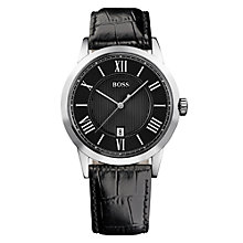 Buy BOSS HB-1004 Men's Leather Strap Watch Online at johnlewis.com