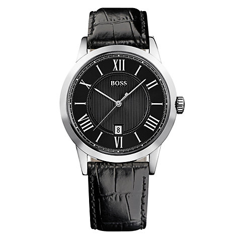 Buy Hugo Boss HB-1004 Men's Leather Strap Watch Online at johnlewis.com