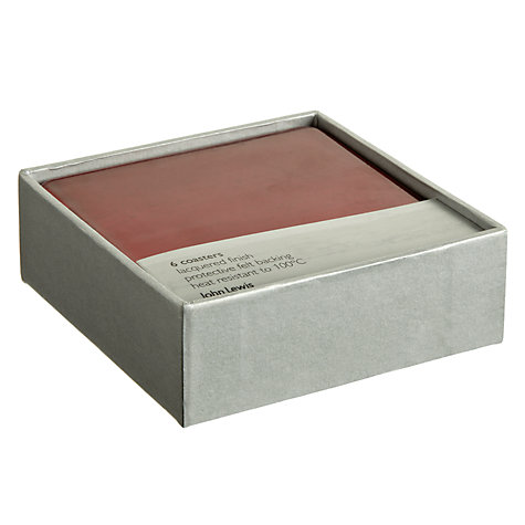 Buy Lacquer Square Coasters, Set of 6 Online at johnlewis.com