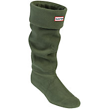 Buy Hunter Original Welly Socks, Olive, M Online at johnlewis.com