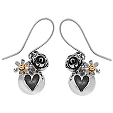 Buy Linda Macdonald Oxidised Heart and Silver Rose Drop Earrings Online at johnlewis.com
