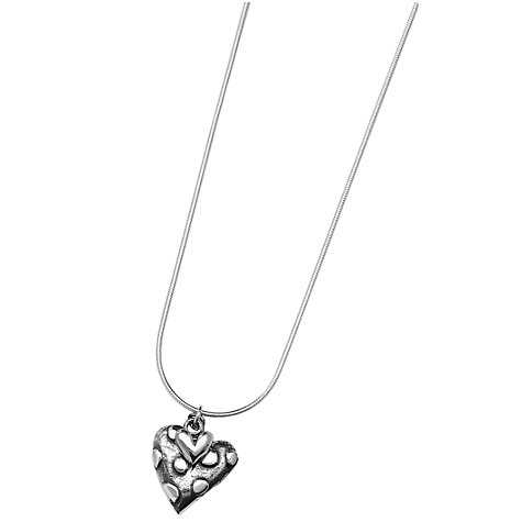 Buy Linda Macdonald Oxidised Silver Dotty Heart Pendant Necklace Online at johnlewis.com