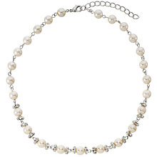 Buy Finesse White Pearl and Cubic Zirconia Necklace Online at johnlewis.com