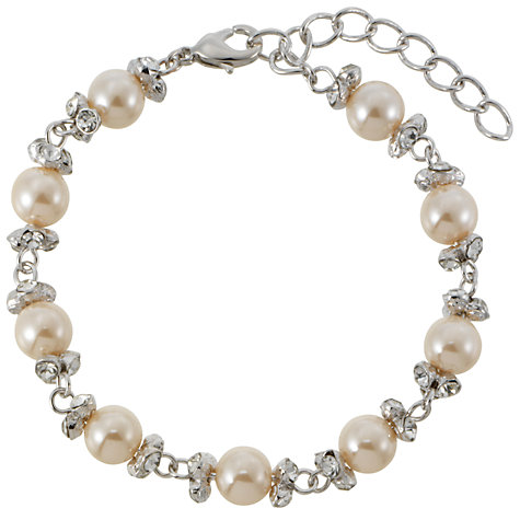 Buy Finesse Perfect Pearl & Cubic Zirconia Link Bracelet Online at johnlewis.com