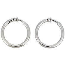 Buy Finesse Rhodium Hoop Earrings Online at johnlewis.com