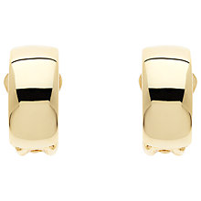 Buy Finesse Gold Polished Crescent Clip Earrings Online at johnlewis.com