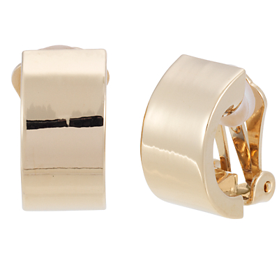 Finesse Crescent Clip-On Earrings, Gold