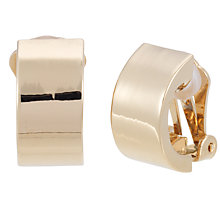 Buy Finesse Crescent Clip-On Earrings, Gold Online at johnlewis.com