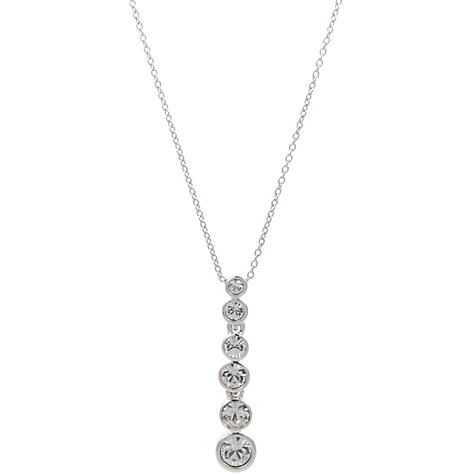 Buy Cachet London Graduated Dazzle Pendant, Silver Online at johnlewis.com