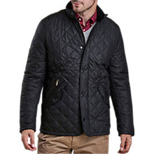 Buy Barbour Chelsea Sportsquilt Water-Resistant Quilted Jacket, Black Online at johnlewis.com