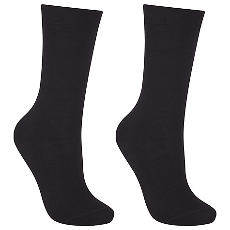 Buy John Lewis Women Merino Wool Mix Ankle Socks, Pack of 2 Online at johnlewis.com