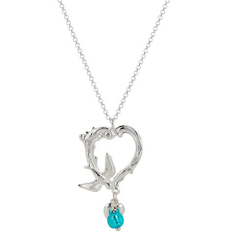 Buy Martick Ornate Swallow Heart Pendant Necklace Online at johnlewis.com