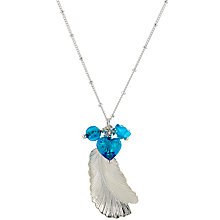 Buy Martick Feather & Turquoise Cluster Pendant Necklace Online at johnlewis.com