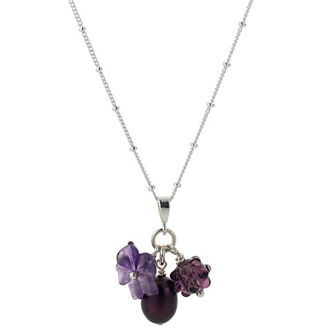 Buy Martick Flower Pearl & Berry Pendant Necklace Online at johnlewis.com