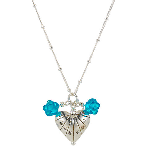 Buy Martick Shelly Silver Heart Blossom Pendant Necklace Online at johnlewis.com