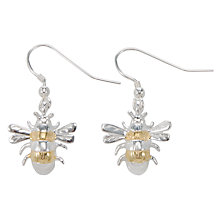 Buy Martick Silver & Gold Plated Bee Earrings Online at johnlewis.com