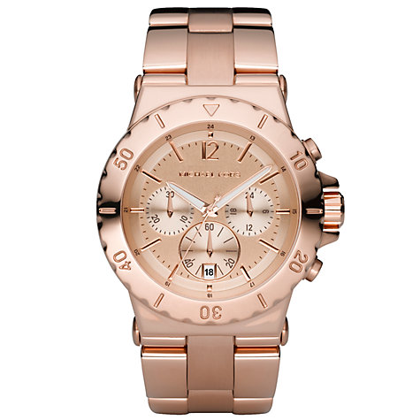 Buy Michael Kors MK5314 Women's Rose Gold Round Chronograph Bracelet Watch Online at johnlewis.com