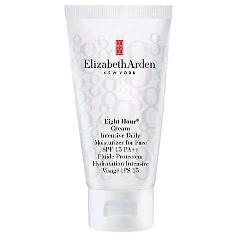 Buy Elizabeth Arden Eight Hour® Cream Intensive Daily Moisturiser for Face SPF 15 Sunscreen PA++, 50ml Online at johnlewis.com