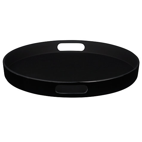 Buy John Lewis Non Slip Tray Black Online at johnlewis.com