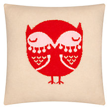 Buy Donna Wilson Owl Cushion, Beige/Red Online at johnlewis.com