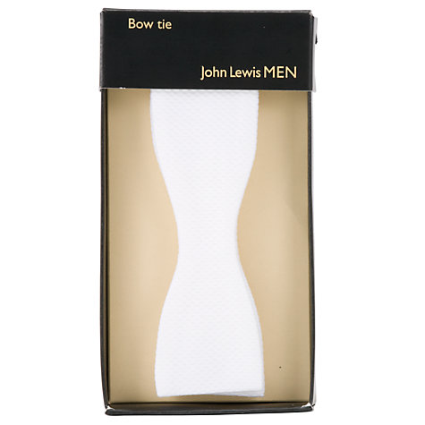 Buy John Lewis Cotton Self-Tie Bow Tie, One Size, White Online at johnlewis.com