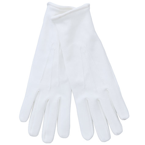 Buy John Lewis Cotton Dress Gloves, White Online at johnlewis.com