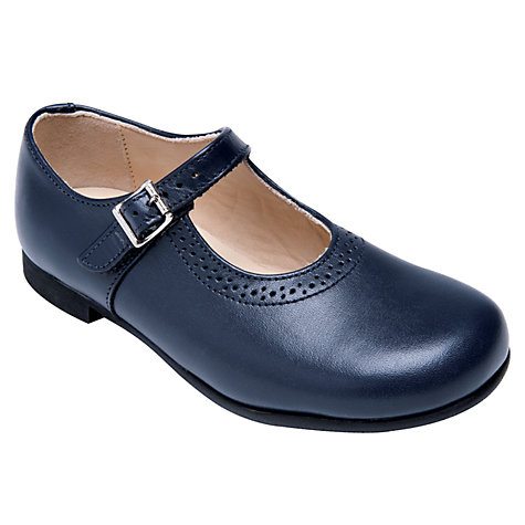 Buy Start-rite Clare Leather Buckle Shoes, Navy Blue Online at johnlewis.com