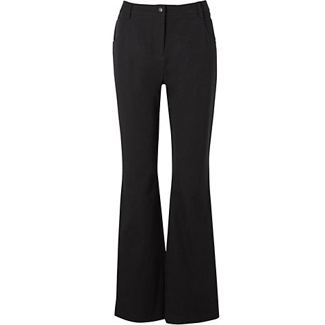 Buy Viyella Smart Bootcut Jeans, L30, Black Online at johnlewis.com