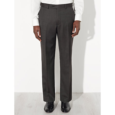 Buy John Lewis Regular Fit Bobby Mini Birdseye Suit Trousers, Charcoal Online at johnlewis.com