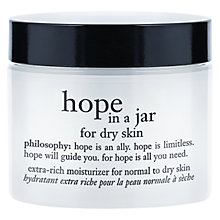 Buy Philosophy Hope In a Jar for Dry Skin, 60ml Online at johnlewis.com