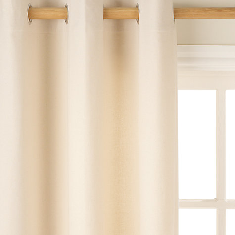 Buy John Lewis The Basics Plain Cotton Unlined Eyelet Curtains, Natural Online at johnlewis.com
