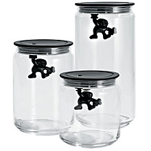 Buy Alessi Black Gianni Storage Jar Online at johnlewis.com