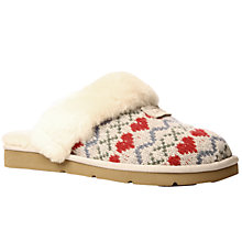 Buy UGG Cozy Knit Heart Slippers, Grey Online at johnlewis.com