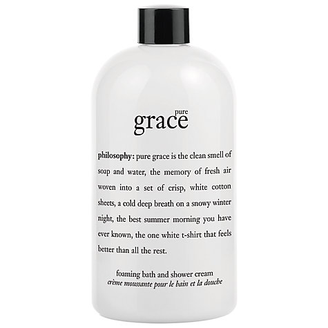 Buy Philosophy Pure Grace Shower Cream, 480ml Online at johnlewis.com