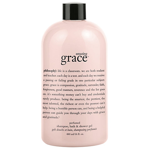 Buy Philosophy Amazing Grace 3-in-1 Shower Gel, 480ml Online at johnlewis.com