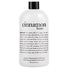 Buy Philosophy Cinnamon Buns 3 in 1 Shower Gel, 480ml Online at johnlewis.com