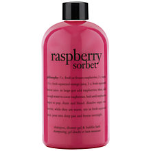 Buy Philosophy Raspberry Sorbet 3 in 1 Shower Gel, 480ml Online at johnlewis.com