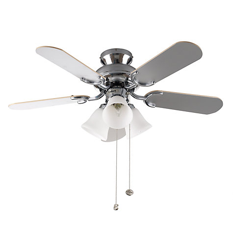 Buy Fantasia Capri Ceiling Fan and Light, Oak Online at johnlewis.com