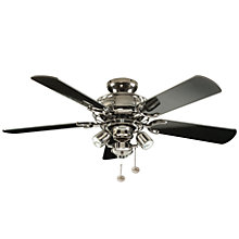 Buy Fantasia Gemini Combination Ceiling Fan, Pewter Online at johnlewis.com