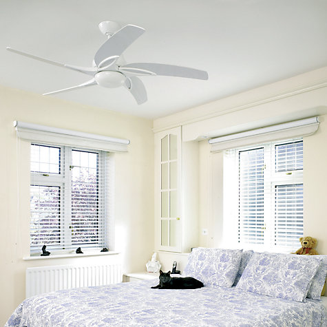 "Buy Fantasia Viper Ceiling Fan and Light, White, 54"" Online at johnlewis.com"