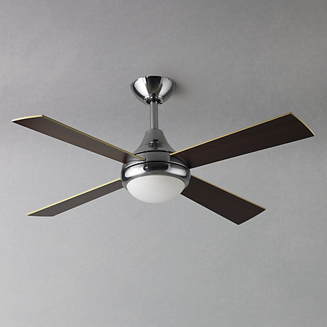 Buy Fantasia Sigma Ceiling Fan and Light, Stainless Steel Online at johnlewis.com