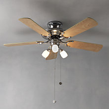 Buy Fantasia Mayfair Ceiling Fan and Light, Stainless Steel Online at johnlewis.com
