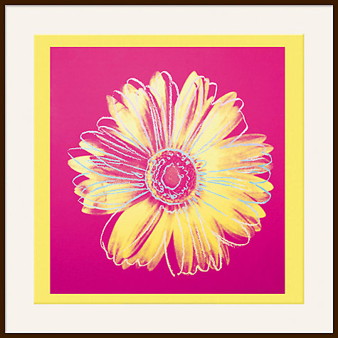 Buy Warhol - Daisy 1982, Yellow on Pink Online at johnlewis.com