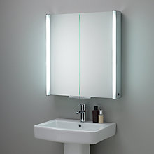 Buy Summit Illuminated Mirror Double Door Cabinet Online at johnlewis.com