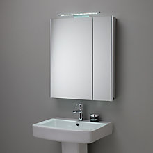 Buy John Lewis Refine Illuminated Double Mirrored Bathroom Cabinet Online at johnlewis.com